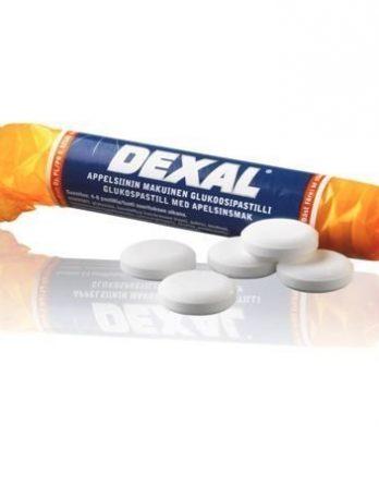 Dexal Glukoosipastilli appelsiini 30 kpl (laatikko)