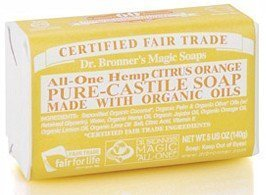 Dr Bronner Citrus Orange Bar Soap