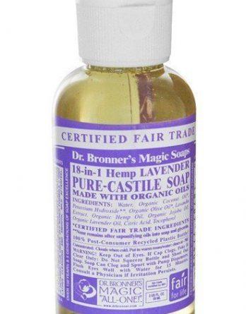 Dr Bronner Lavender Liquid Soap 59 ml