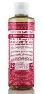 Dr Bronner Rose Liquid Soap 236 ml