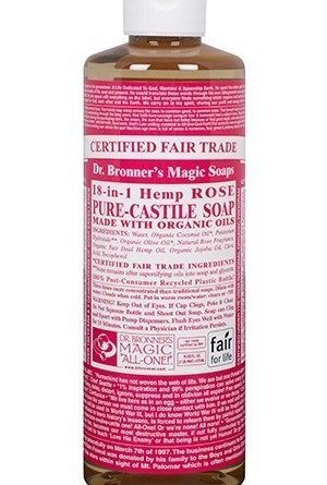 Dr Bronner Rose Liquid Soap 473 ml