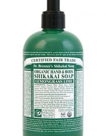 Dr Bronner Shikakai Hand & Body Soap Lemongrass Lime 355 ml