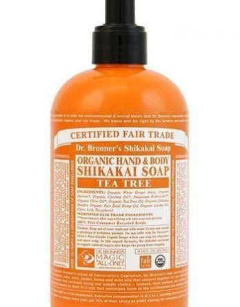 Dr Bronner Shikakai Hand & Body Soap Tea Tree 355 ml