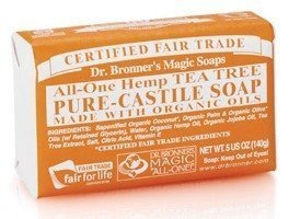 Dr Bronner Tea Tree Bar Soap