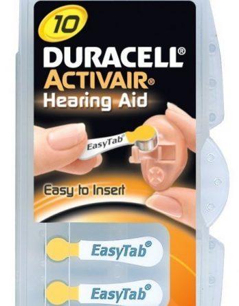 Duracell Activair 10 Hörapparatsbatterier 6 kpl