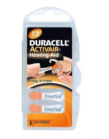 Duracell Activair 13 Hörapparatsbatterier 6 kpl