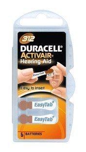 Duracell Activair 312 Hörapparatsbatterier 6 kpl