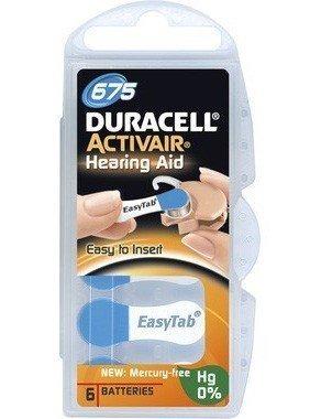 Duracell Activair 675 Hörapparatsbatterier 6 kpl