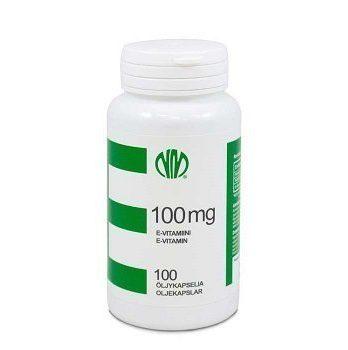 E 100 mg 100 kapselia