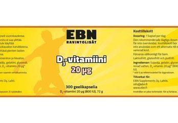 EBN Vitamin D3 20 µg 300 kaps