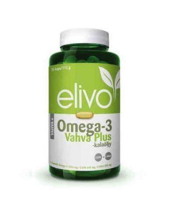 Elivo Omega-3 Vahva Plus kalaöljy 70 kapselia