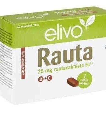 Elivo Rauta 25 mg B+C 60 depottablettia