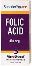 FOLIC ACID 800 mcg 100 tablettia