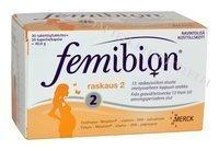Femibion Raskaus 2 30 tablettia + 30 kapselia
