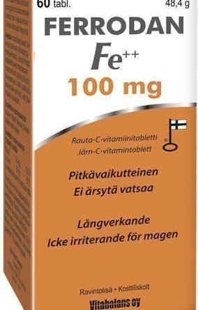 Ferrodan Fe++ 100 mg 60 tablettia