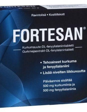 Fortesan Kurkumauute-DL-fenyylialaniinitabletti