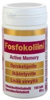 Fosfokoliini Active Memory lesitiinivalmiste 150 tabl.
