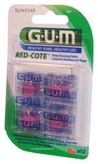 GUM Red-Cote väritabletti 12 kpl