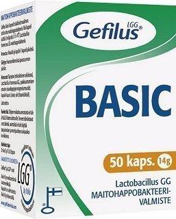 Gefilus Basic Maitohappobakteerivalmiste 50 kapselia