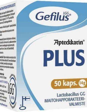 Gefilus Plus maitohappobakteerivalmiste 50 kapselia