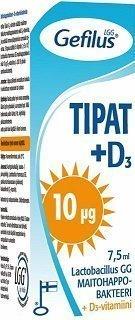 Gefilus Tipat + D3 10 µg 7
