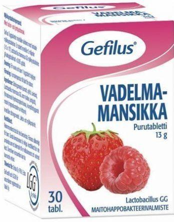 Gefilus Vadelma-Mansikka purutabletit