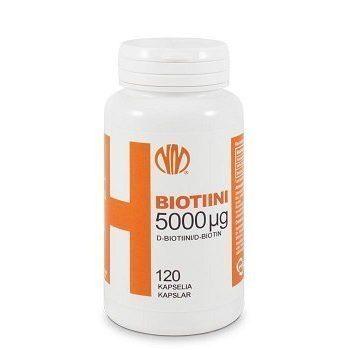H Biotiini 5000 µg 120 kapselia
