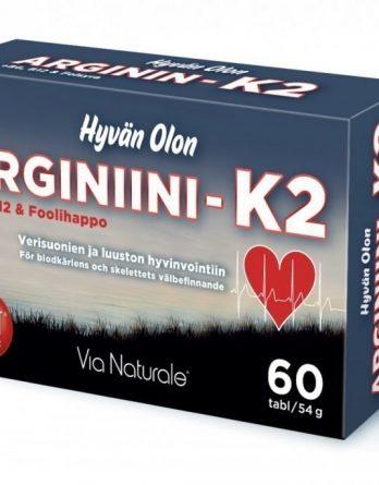 Hyvän Olon Arginiini + K2 60 tabl.