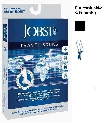 Jobst Travel Socks lentosukat 15-20 mmHg musta koko 37/38