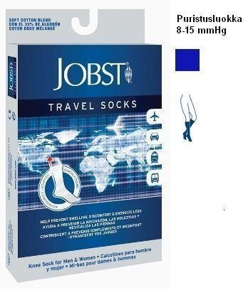 Jobst Travel Socks lentosukat 15-20 mmHg tumman sin. koko 45/46