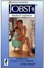 Jobst Ultra Sheer 20-30 mmHg polvipit. tukisukat natural M