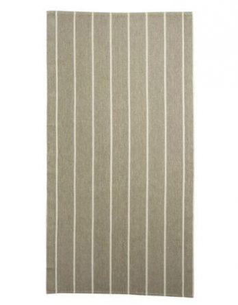 Jokipiin Pellava Liituraita-kylpypyyhe 75 x 150 cm valkoinen
