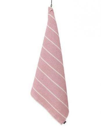 Jokipiin Pellava Liituraita kylpypyyhe vaaleanpunainen 75 x 150