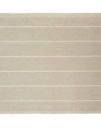 Jokipiin Pellava Liituraita-pefletti 45 x 55 cm luonnonväri