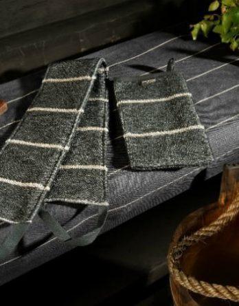 Jokipiin Pellava Liituraita-selänpesin musta