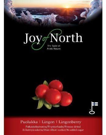 Joy of North Pakastekuivattu puolukka 23 g