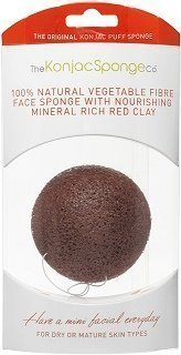 Konjac Sponge Red Clay 1 kpl