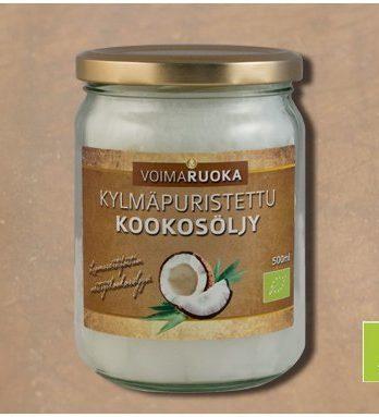 Kookosöljy LUOMU 500 g Voimaruoka