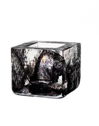 Kosta Boda Brick-votiivi musta