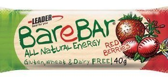 Leader BareBar Red Berries 40 g x 24 kpl