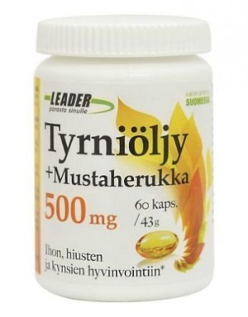 Leader Tyrniöljy+ mustaherukka 500mg