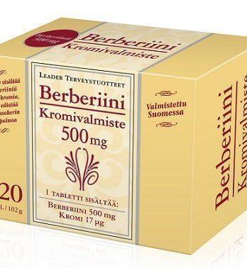 Leader Vahva Berberiini 500mg + Kromi 120 tablettia