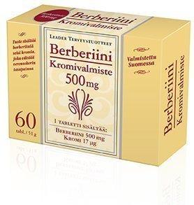Leader Vahva Berberiini 500mg + Kromi 60 tablettia