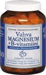 Leader Vahva Magnesium + B-vitamiini 100 purutabl.
