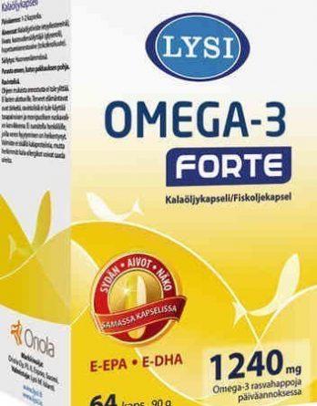 Lysi Omega-3 Forte 64 kapselia