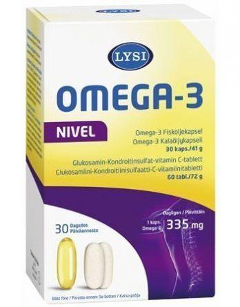 Lysi Omega-3 Nivel 30 kaps + 60 tabl