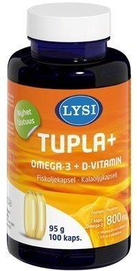 Lysi Omega-3 Tupla+ 100 kapselia