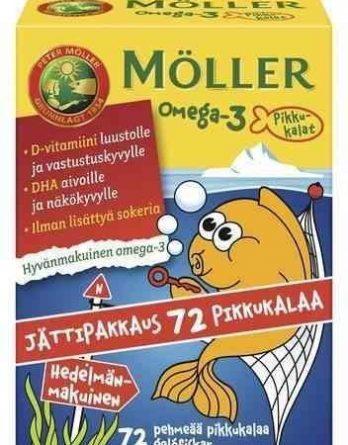 Möller Omega-3 Pikkukalat 72 kpl