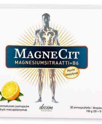 MagneCit magnesiumsitraatti-B6-vitamiinivalmiste
