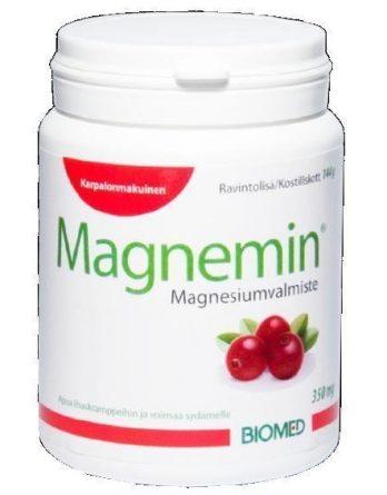Magnemin magnesiumvalmiste 350 mg karpalo 90 purutabl.